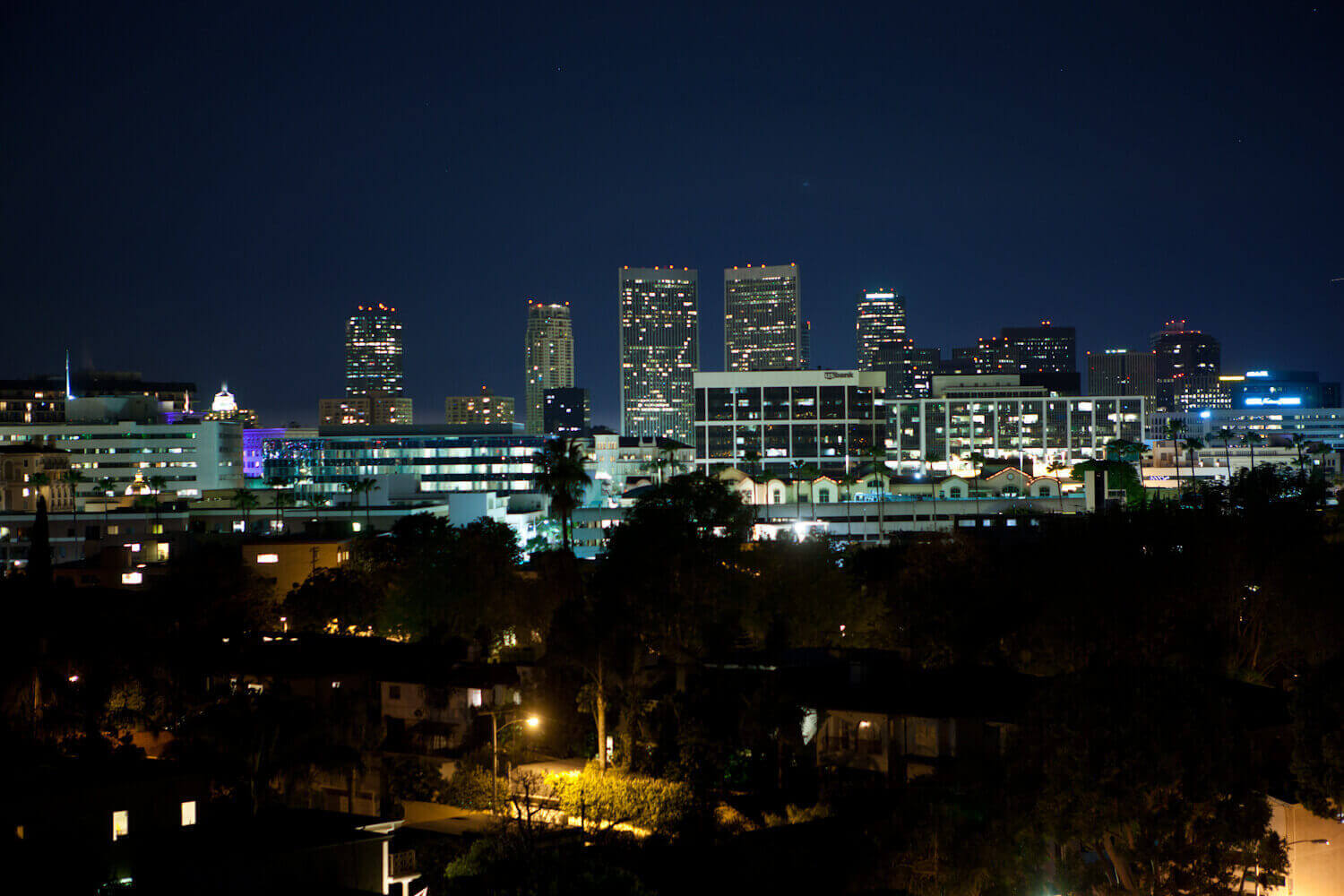 Downtown Beverly Hills at Night